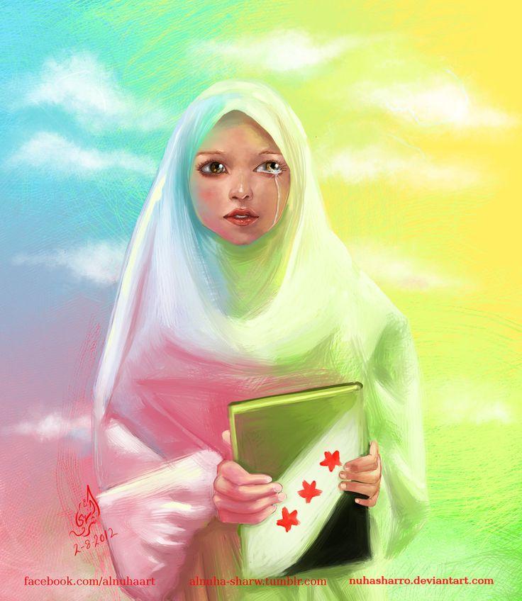 Crying Syrian Woman (Drawing)