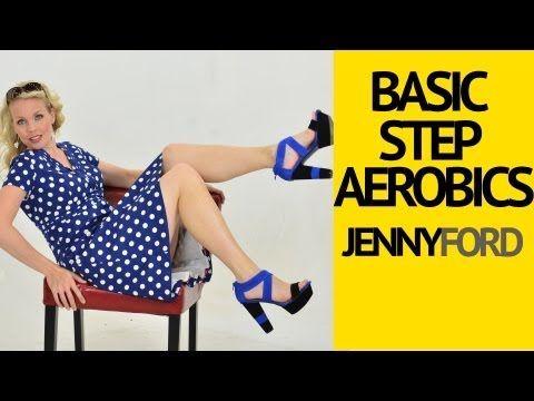 Basic Step Aerobics Fitness Cardio Workout -- Jenny Ford