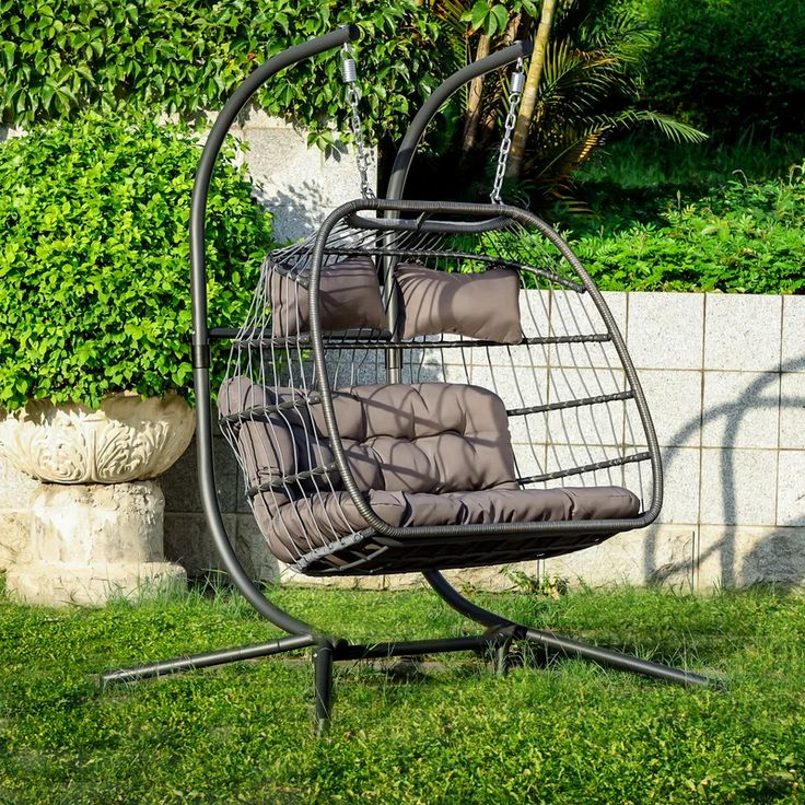 Bloomsdale 2 Person Wicker Swing Chair Rattan Xlarge