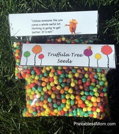 Truffula Tree Seeds Lorax Free Printable Topper Perfect for Earth Day or Dr. Suess Birthday