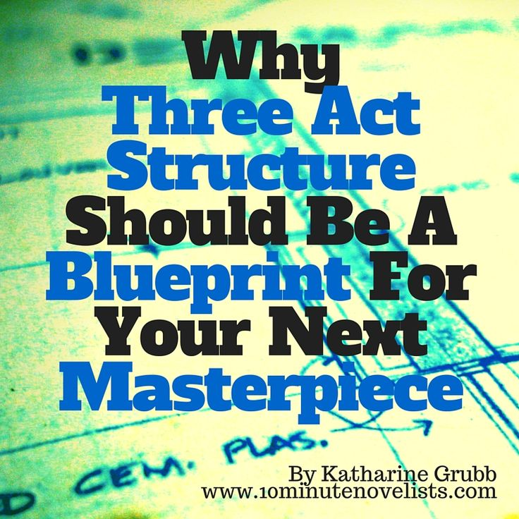 Why Three Act Structure Should Be A Blueprint For Your Next Masterpiece by Katharine Grubb