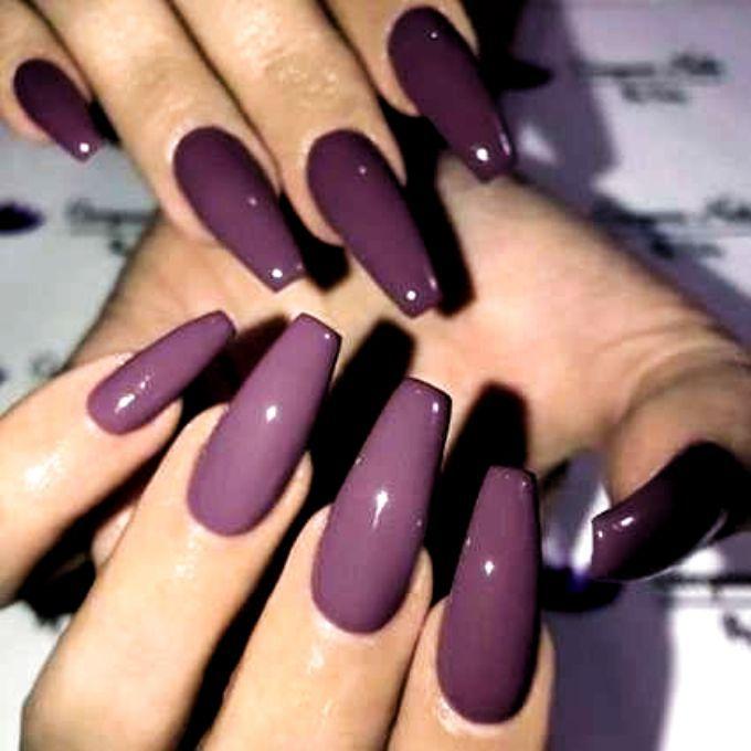 49 Ideas For Nails Acrylic Short Casket Christmas Nails Acrylic Nails Nails Acrylic Short In 2020 Ballerina Nails Shape Coffin Nails Long Purple Nail Art Designs