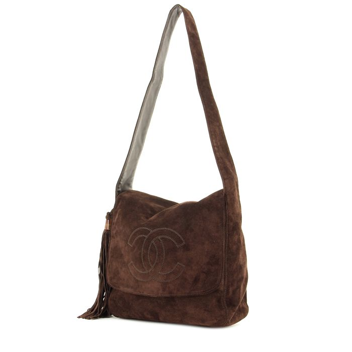 Chanel Messenger Suede Brown Bag @collectorsquare
