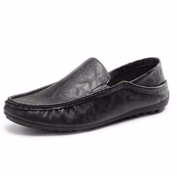 Men Pu Pure Color Slip On Casual Driving Moccasin Shoes Loafers