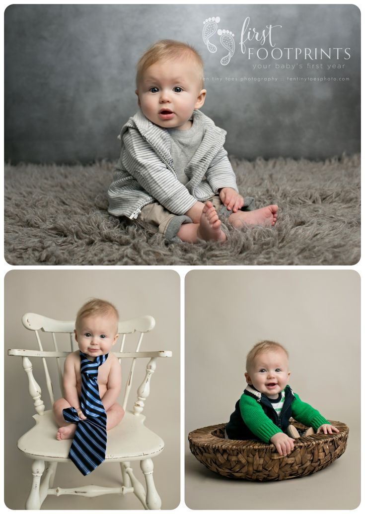 6 month baby boy in studio, so cute!  #tentinytoesphotography #6monthphotos