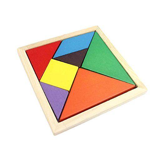 Malloom® niños alta calidad juguete madera Geometría Rompecabezas tangram Jigsaw