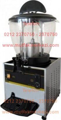 Yuvarlak Limonata Makinası ST25:Endüstriyel tip meyve suyu ayran soğutucu cihazlardan şerbetliklerden bu yuvarlak limonata makinası 21 litre kapasiteli olup son derece kalitelidir - Yuvarlak limonata makinası satış telefonu 0212 2370749