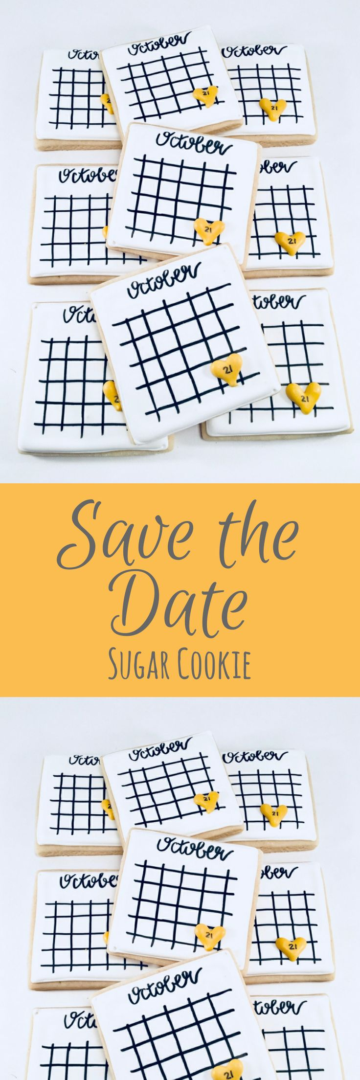 Save the Date - 1 Dozen (12) Decorated Sugar Cookies #affiliate