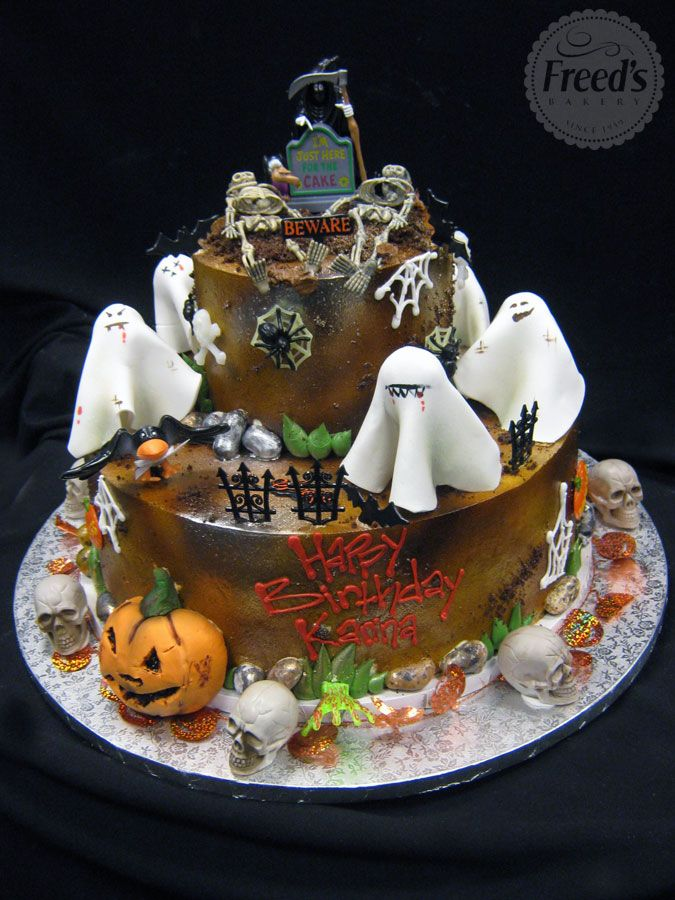 make it a spooky event by digging into a custom halloween cake from goblins to ghouls freeds bakery has all kinds of scary treats - Halloween Bakery Ideas