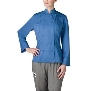 The perfect combination of style, function and easy care, our Sterling chef coat is made with a poly/viscose blend that helps make this chef jacket wrinkle and stain resistant. Designed with two side pockets and cloth covered buttons, this chef coat completes your chef uniform. Available in 7 colors. $65.95