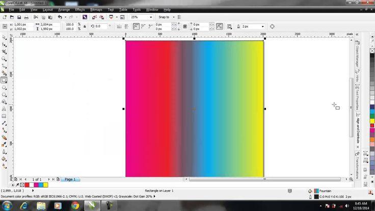 Mengatur Warna Gradasi di Corel Draw