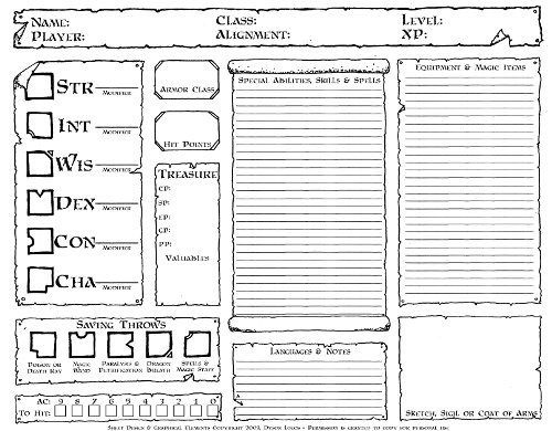 pathfinder rpg pdf character sheet