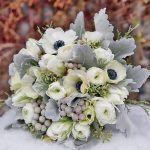 Tendenze bouquet da sposa inverno 2017 in grigio e argento   Sposalicious