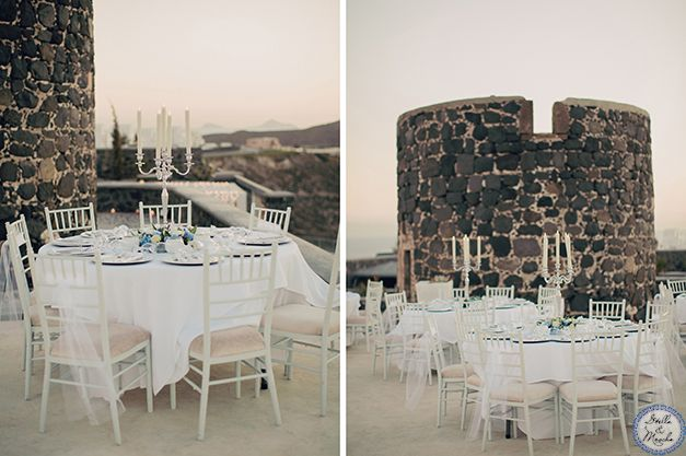 Wedding Table | Santorini Wedding by Stella and Moscha - Exclusive Greek Island Weddings | Photo by Anna Roussos | http://www.stellaandmoscha.com/wedding-photos/private-villa-wedding/