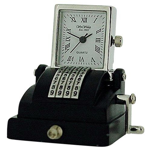 Miniature Old Style Cash Register Novelty Ornamental Collectors Clock 9744