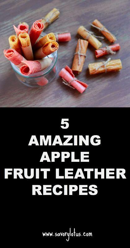 5 Amazing Apple Fruit Leather Recipes |  savorylotus.com can definitely do it raw