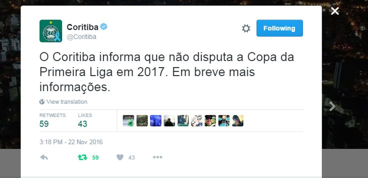 Em reunião, Atlético-PR e Coritiba se desligam da Primeira Liga #globoesporte