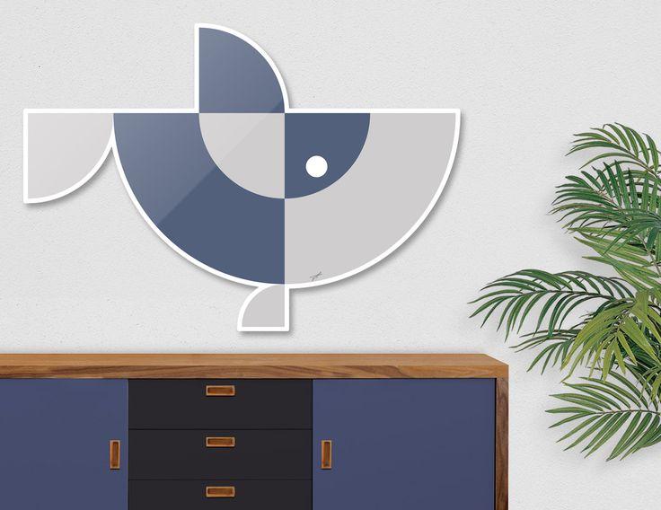 #DieCut #Aluminum #Print of #Geometric #Animals.  #Home #Decor Series by Vaggelis Arabatzoglou!  Available in a variety of #Art #Prints on #Curioos! #2dart #quadrant #geometric #design #homedecor #kidsroom #livingroom #lifestyle #abstract #graphicdesign #vectorart #illustration #contemporary #fish #sharks #oceanlife #marinelife #minimal