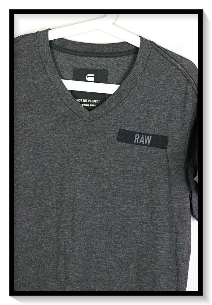 G Star Raw Classic Regular V Neck T Shirt Size M #fashion