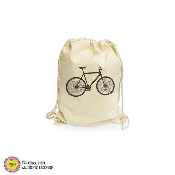 Bicycle organic gymsack-bike bag-bicycle bag-gift by naturapicta