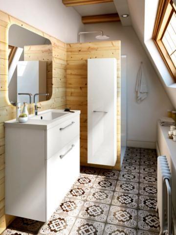 Une douche sans porte pour optimiser la circulation - Une salle de bains de 3 m2, dix possibilités d'aménagement