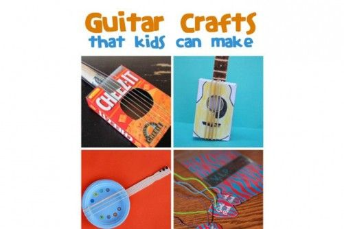 Musical Instrument Crafts For Kids Guitar-Crafted