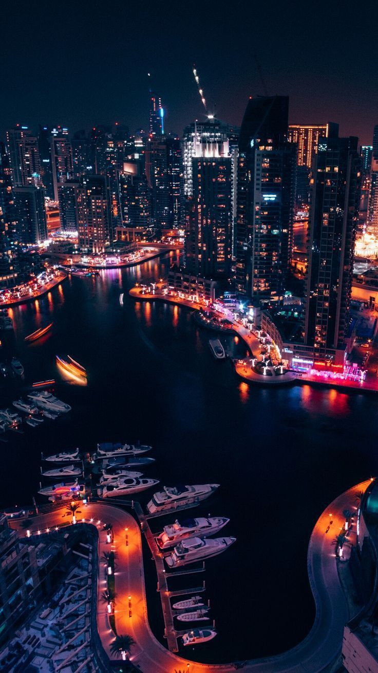 Bay Night Lights In 2019 City Wallpaper City Iphone