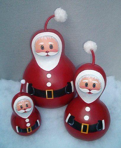 Santa Gourd Ornament