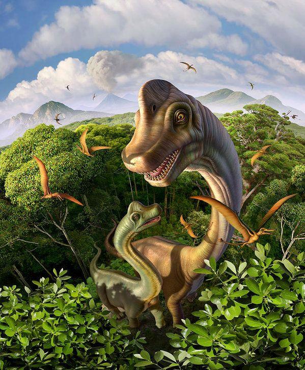 Brachiosaurus Art Print featuring the digital art Ultrasaurus by Jerry LoFaro