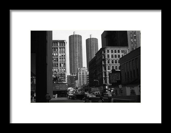 Chicago marina city black and white framed print by art america gallery peter potter