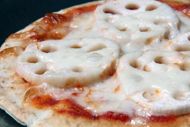 Lotus Root Pizza