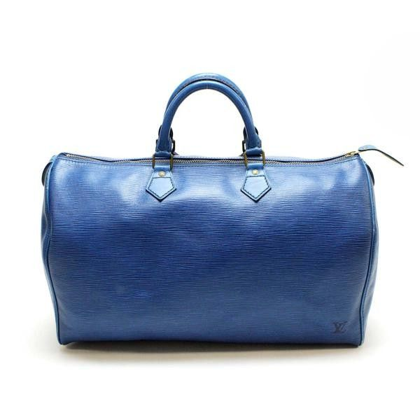 Louis Vuitton Speedy 40 Epi Handle bags Blue Leather M42985