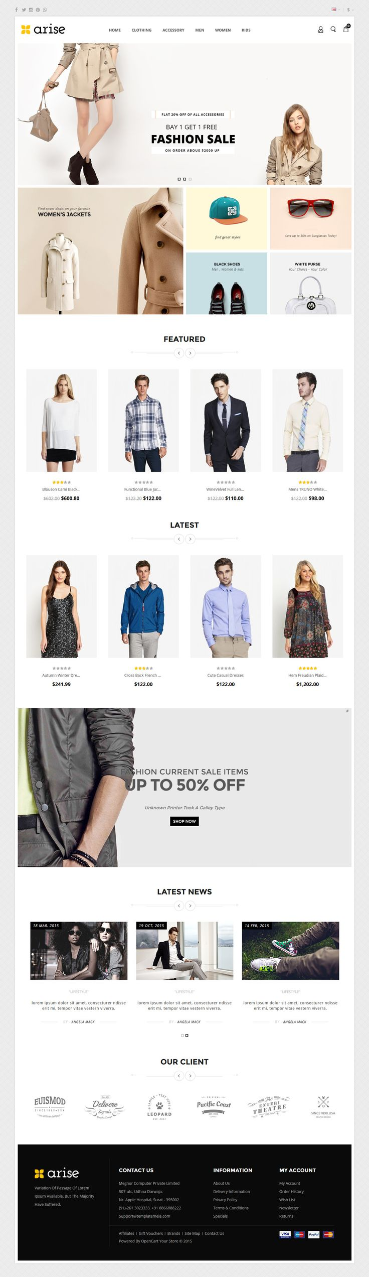 Arise - Opencart Responsive Theme Layout 2 #ecommerce #website Download: http://themeforest.net/item/arise-opencart-responsive-theme/12626539?ref=ksioks