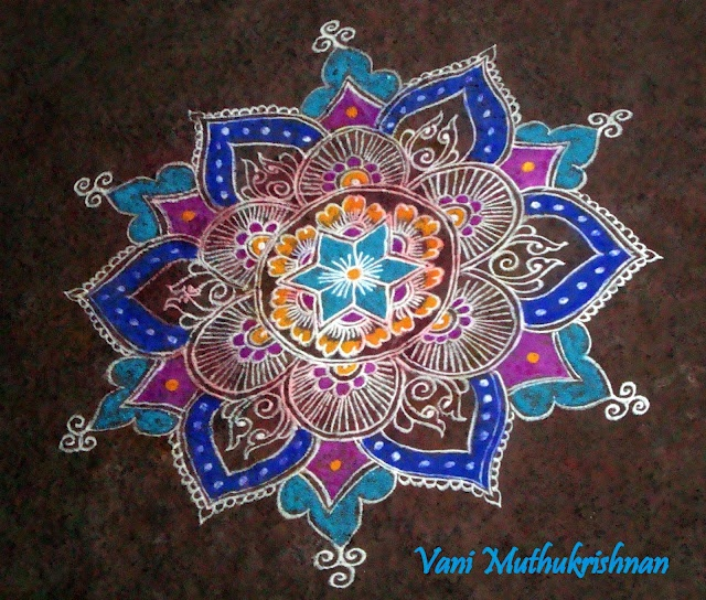 Rangoli is most easily cleaned off patios and solid surface indoor flooring.