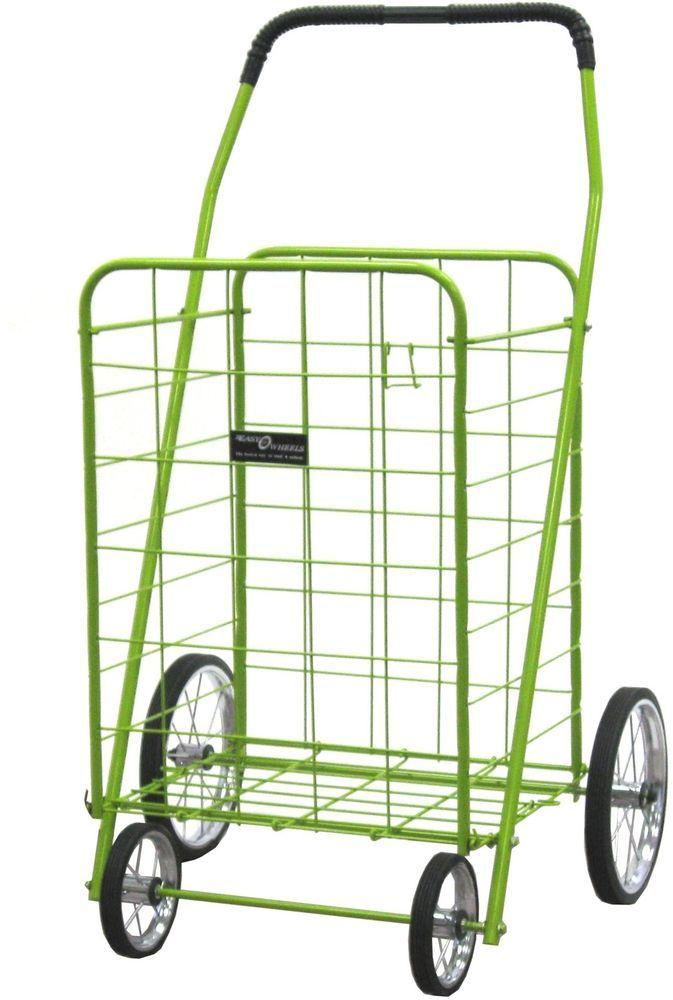 Narita Trading Company Green Jumbo Shopping Cart #Narita