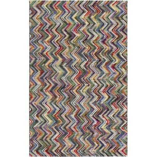 Surya JYB3000-810 Jellybean 8' x 10' Rectangle Wool Hand Woven Transitional Area - Blue