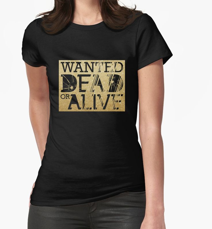 """Bon Jovi """"Wanted Dead or Alive"""" Womens Fitted T-Shirts by windrose 