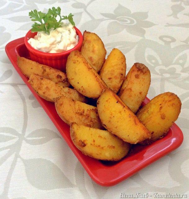 Печеный картофель с чесноком