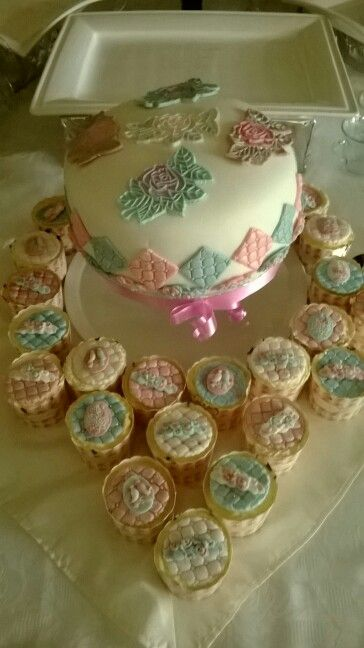Birthday cake and cupcakes