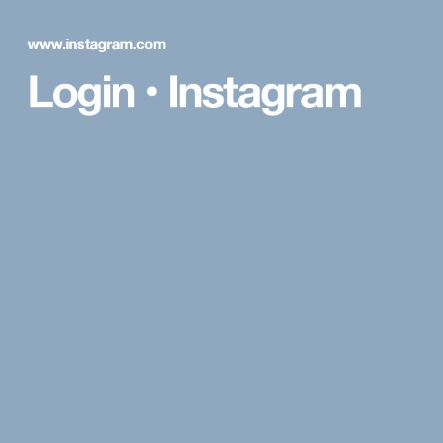 Login • Instagram