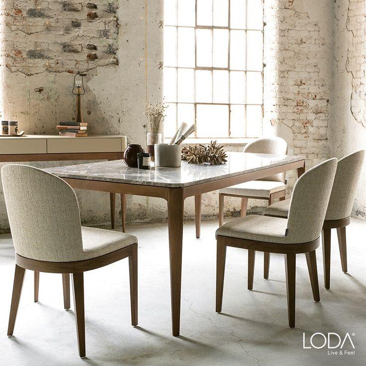 Mermer masa üstü ve konsol detayı ile doğanın en güzel parçası evinizde. Form Yemek Odası ile huzurlu evler, mutlu yemekler. 