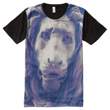 Zodiac Leo - Stone Lion VZS2 All-Over-Print T-Shirt - tap, personalize, buy right now!