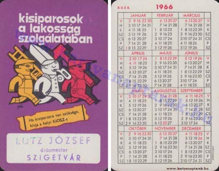 1966 - 1966_0094 - Régi magyar kártyanaptárak