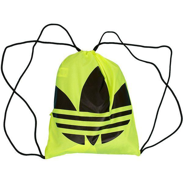 Adidas Originals Gym Bag Trefoil gelb/schwarz found on Polyvore featuring bags, adidas originals, gym bag, adidas originals bag and white bags