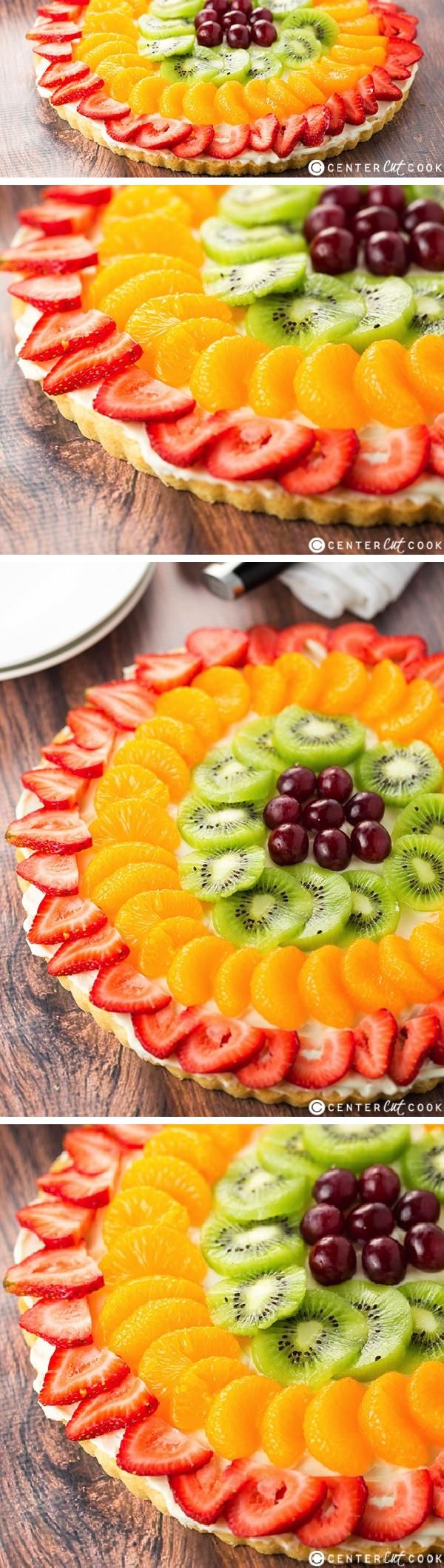 This Fruit Pizza Recipe is easy to make, refreshing and delicious, and the crust is made from sugar cookie dough! You are going to love this fruit pizza!