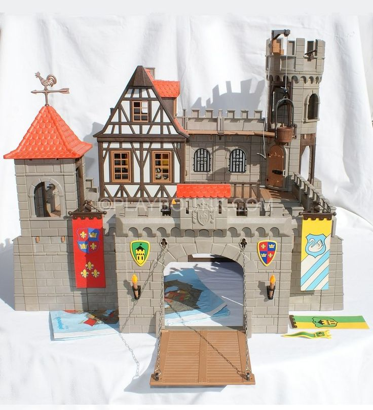 playmobil chevalier ch teau fort m di val 3666. Black Bedroom Furniture Sets. Home Design Ideas