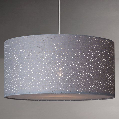 £45 Buy John Lewis Easy-to-fit Alice Starry Sky Ceiling Shade, Slate Online at johnlewis.com