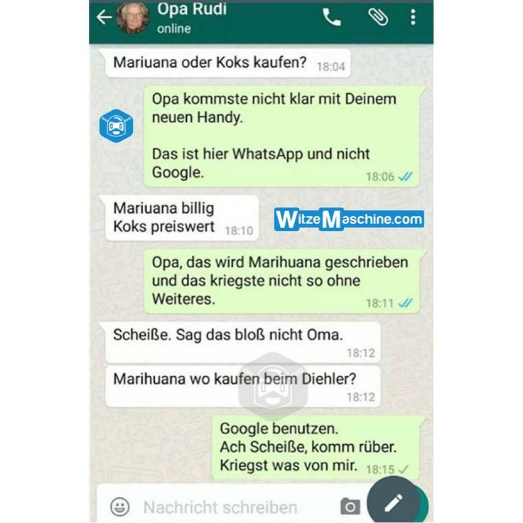 Lustige WhatsApp Bilder und Chat Fails 218 - Opa will Drogen kaufen