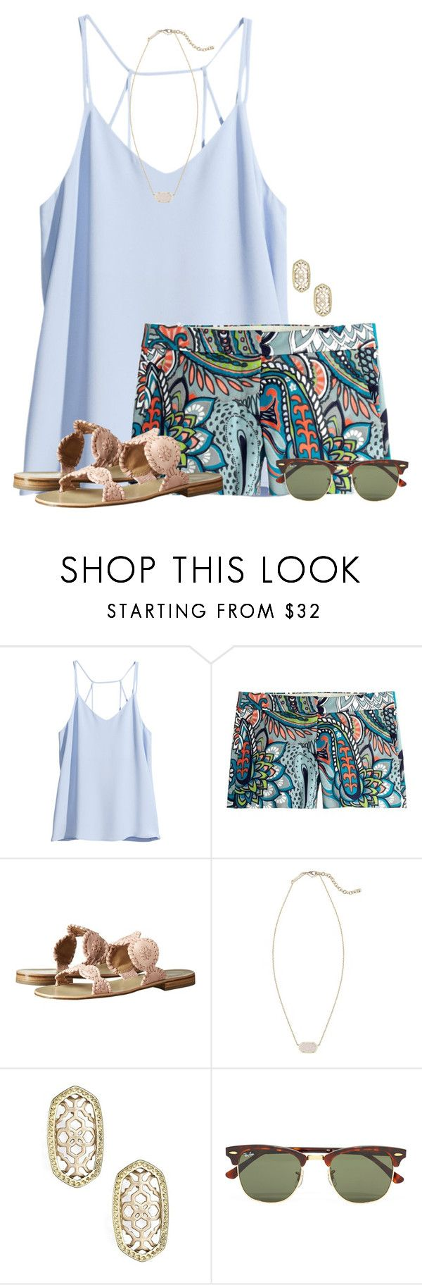 ~ guide your own ship ~ by flroasburn ❤ liked on Polyvore featuring HM, J.Crew, Jack Rogers, Kendra Scott and Ray-Ban