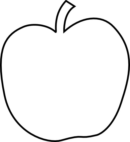 Plain White Apple clip art - vector clip art online, royalty free ...